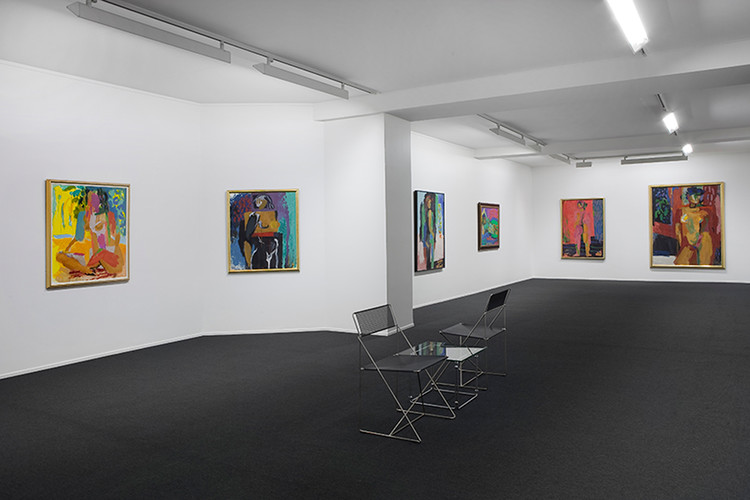 Aktmalerier, Installation View